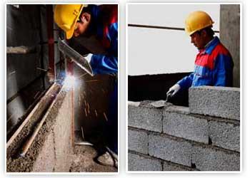 تیغه چینی و دیوار کشی | پیام معماری ایرانیانانواع این بلوک ها عبارتند از